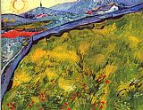 Vincent van Gogh Field of Spring Wheat at Sunrise painting