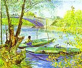 Vincent van Gogh Fishing in Spring painting