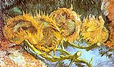 Vincent van Gogh Four Cut Sunflowers painting