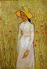 Vincent van Gogh Girl in White painting