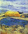 Vincent van Gogh Haystack in Rainy Day painting