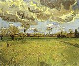 Vincent van Gogh Landscape under Stormy Skies painting