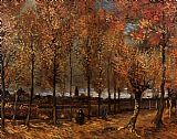 Vincent van Gogh Lane with Poplars painting