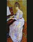 Vincent van Gogh Mademoiselle Gachet at Piano painting