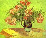 Vincent van Gogh Majolica Jar with Branches of Oleander painting