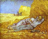the kiss (le baiser _ il baccio) Paintings - Noon Rest After Millet