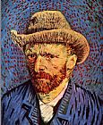 Vincent van Gogh Self-Portrait with Felt Hat grey painting