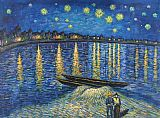 Vincent van Gogh Starry Night Over the Rhone 2 painting