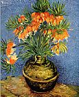 Vincent van Gogh Still Life with imperial crowns in a bronze vase painting