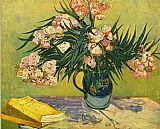 the kiss (le baiser _ il baccio) Paintings - Still Life with oleander