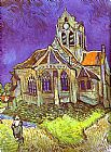 Vincent van Gogh The Church in Auvers painting