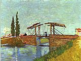 Vincent van Gogh The Langlois Drawbridge painting