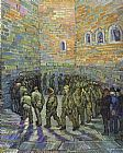 Vincent van Gogh The Prison Courtyard painting