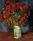 Vincent van Gogh Vase with Red Poppies painting