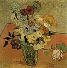 Vincent van Gogh Vase with Roses and Anemones painting