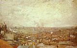 Vincent van Gogh View from Montmartre painting