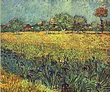 Vincent van Gogh View of Arles with Irises I painting