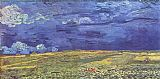 Vincent van Gogh Wheat Field under Clouded Sky painting