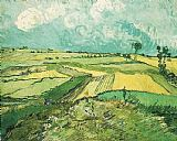 Vincent van Gogh Wheat Fields at Auvers Under Clouded Sky painting
