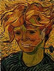 Vincent van Gogh Young Man with a Corflower painting