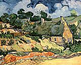 Vincent van Gogh camp houses painting