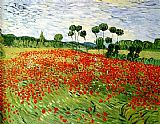 Vincent van Gogh field of poppies painting