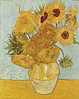 Vincent van Gogh vase with twelve sunflowers 1888 painting
