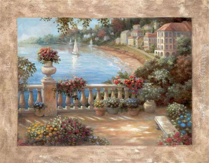 Vivian flasch mediterranean terrace ii painting best paintings for sale - Mediterranean terrace design ideas ...