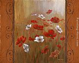 Vivian Flasch Poppies & Morning Glories I painting