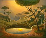 Vladimir Kush Breakfast on the Lake painting