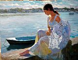 Beach paintings - River of Dreams by Vladimir Volegov