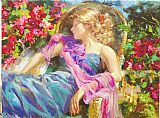 Garden paintings - Sun Drenched Garden by Vladimir Volegov