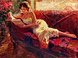 Vladimir Volegov The Red Couch painting