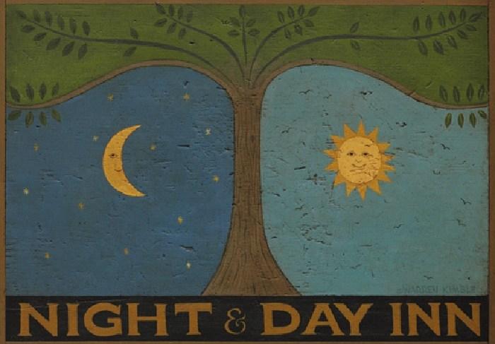 Warren Kimble Night and Day Inn Painting