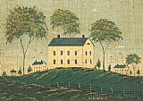 Warren Kimble Farm House on Hill painting
