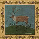 Warren Kimble Folk Elk painting