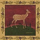 Warren Kimble Folk Fawn painting
