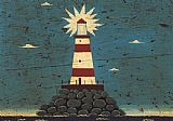 Warren Kimble Lighthouse I painting