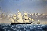 William Bradford Clipper Ship 'Golden West' of Boston, Outward Bound painting