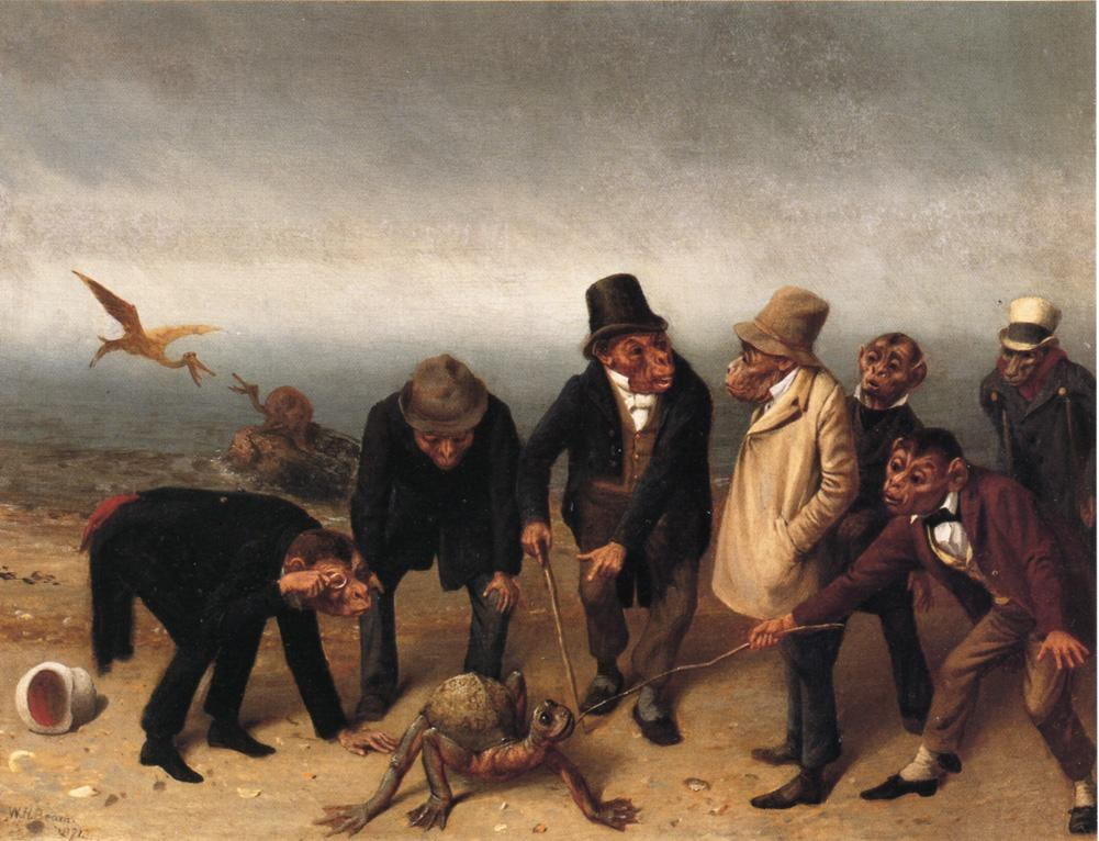 Making Game of the Hunter   by William Holbrook Beard  Giclee Canvas Print Repro