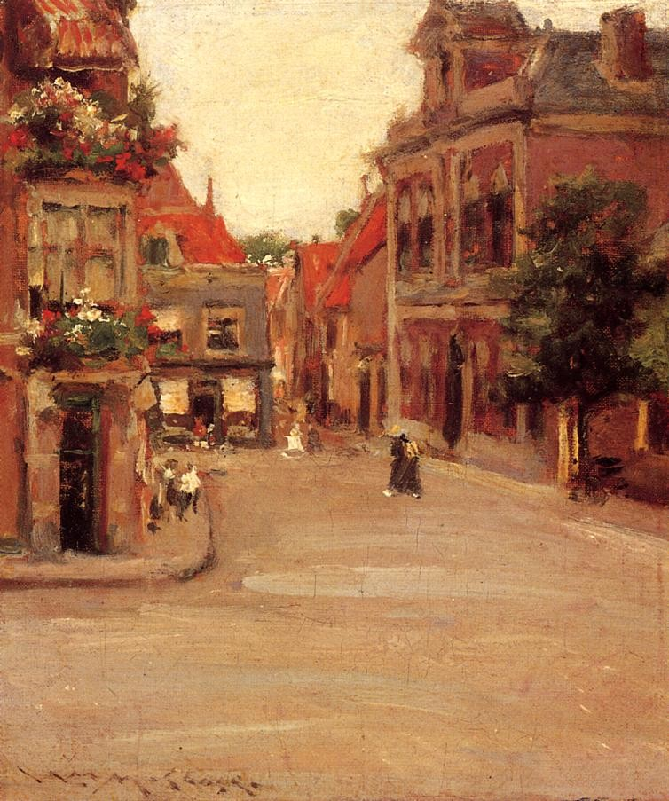 William Merritt Chase The Red Roofs of Haarlem, Holland