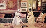 William Merritt Chase A Friendly Visit painting
