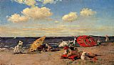 William Merritt Chase At The Seaside painting