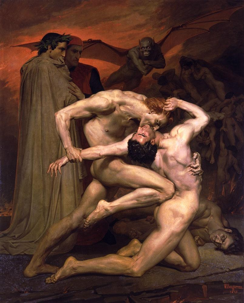 William Bouguereau Dante and Virgil in Hell