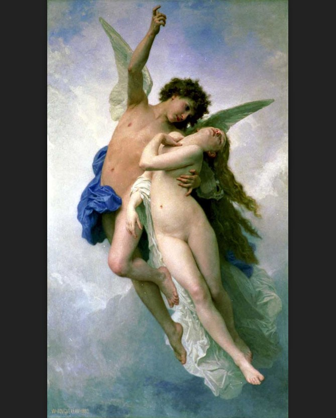 William Bouguereau Psyche and Cupid