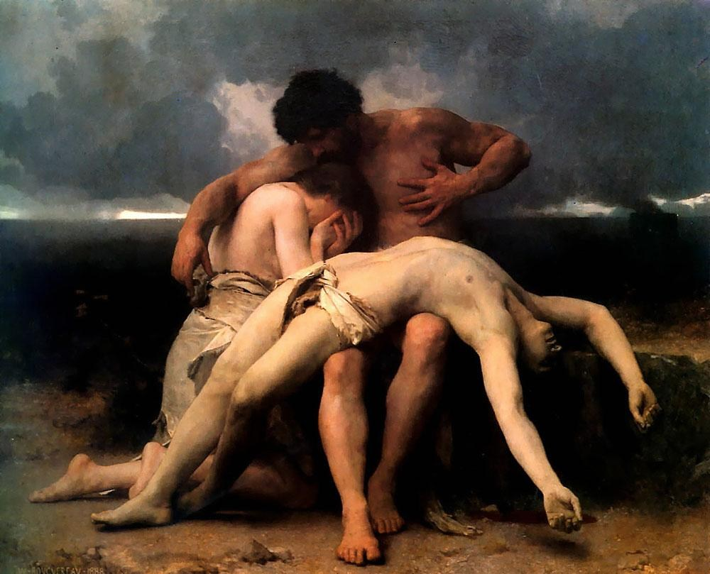 William Bouguereau The First Mourning