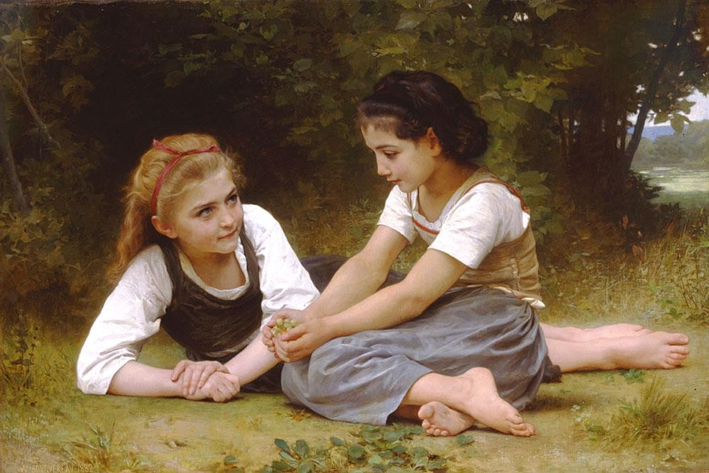 William Bouguereau The Nut Gatherers