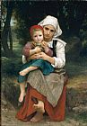 William Bouguereau Breton Brother and Sister painting