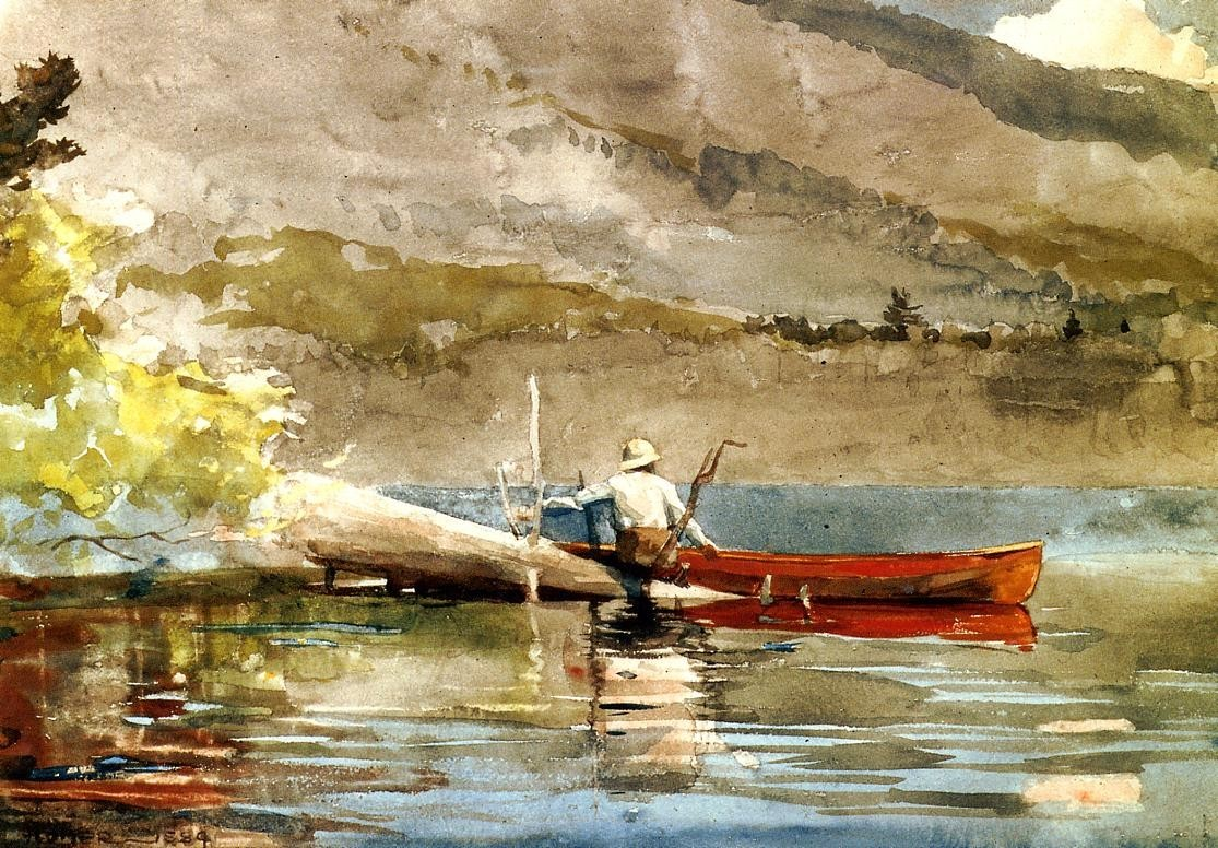 Winslow Homer The Red Canoe i