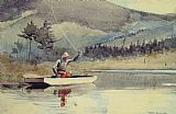 Winslow Homer A Quiet Pool on a Sunny Day painting